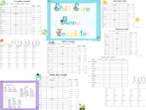 Child Care Menu Templates