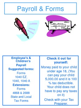 Child Care Organizing your files for tax preparation and book keeping