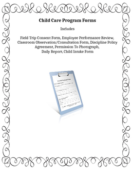 Child Care Program Forms