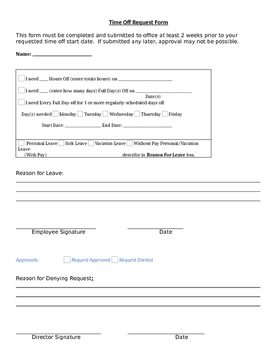 Child Care Program Forms