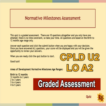 Child Care Quiz Assessment for Level 2 CPLD Unit 2