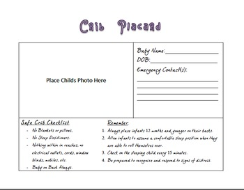 Crib Place Card