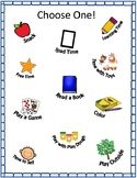 Child Choose One Reinforcement Board for Activities and Items