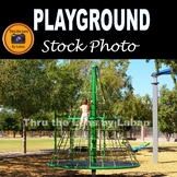 Child Climbing Rope Structure Stock Photo #261