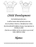 Child Development Course beginning and ending student workbook