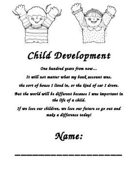 Child Development Course beginning and ending student workbook
