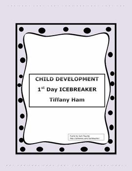 Child Development: First Day ICEBREAKER