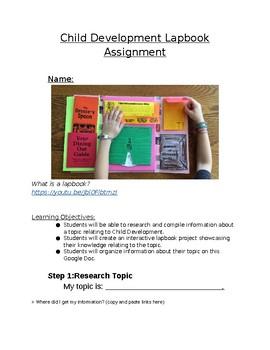 Child Development Lapbook Project