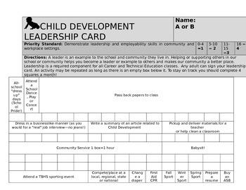 Child Development Leadership Card