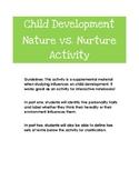 Child Development Nature vs. Nurture Activity