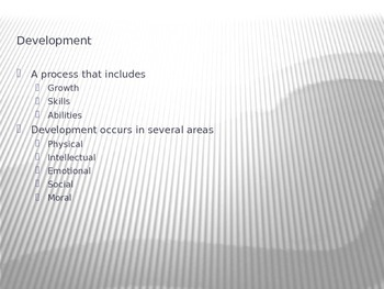 Child Development Principles