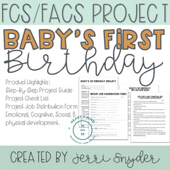 Child Development  * Baby's First Birthday Party Project *
