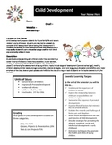 Child Development Syllabus - fully editable