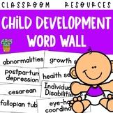 Child Development Word Wall - 650 Vocabulary Words
