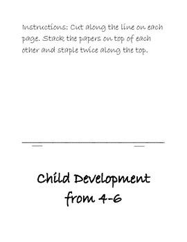 Child Development from 4-6 Flip Book