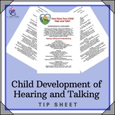 Child Development of Hearing and Talking