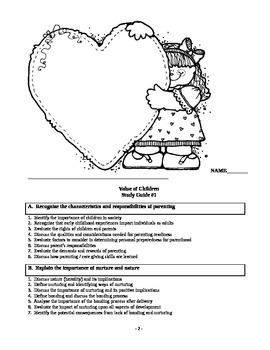Child Development unit 1 course workbook: Parenting and children