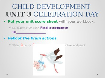 Child Development unit 3 day 6 power point Test day