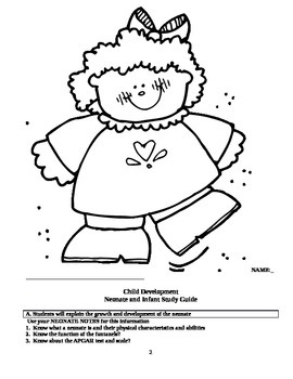 Child Development unit 4 course workbook and key The First year of life