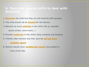Child Development unit 6 day 4 power point Death, divorce, and more