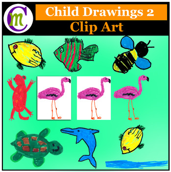 Child Drawings 2 Clip Art