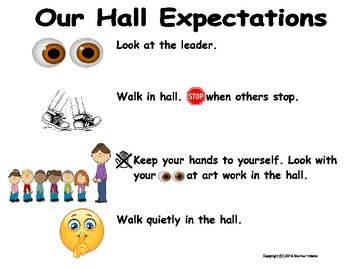 Child Friendly Expectations for Various Areas of the School