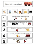 Child Friendly Visual Directions Fire Truck Snack