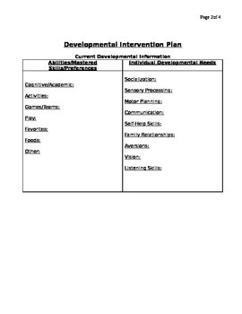 Child Individual Intervention Plan Form and Progress Monitoring Form