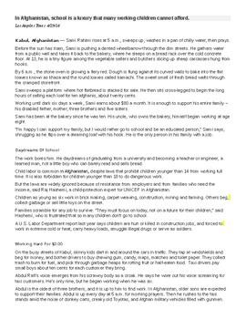child labor essay introduction