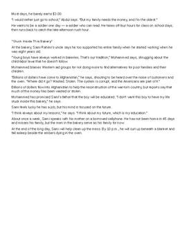 Child Labor FSA-Style Argumentative Essay Complete Resource
