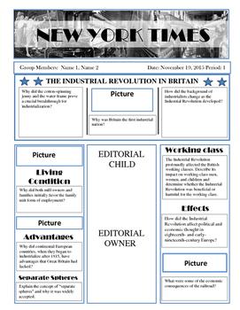 Child Labor Newspaper Project