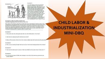 Child Labor and Industrialization Mini-DBQ