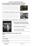 Child Labour Research Worksheet - Stage  History - The Industrial Revolution