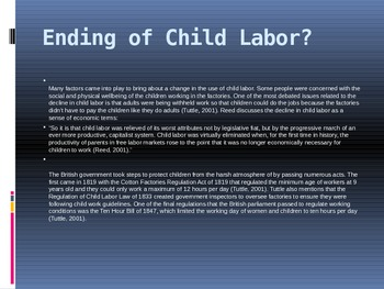 Child Labour in the Industrial Revolution
