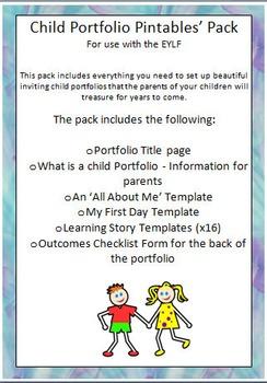 Child Portfolio Printables' Pack - Updated