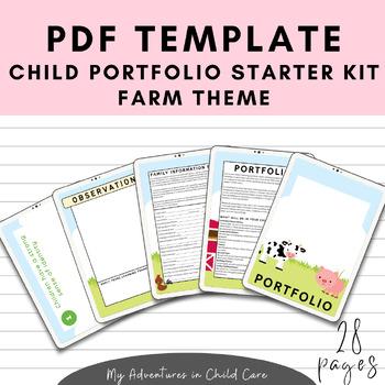 Child Portfolio Templates Starter Kit - Farm Theme