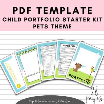 Child Portfolio Templates Starter Kit - Pets Theme