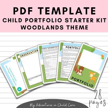 Child Portfolio Templates Starter Kit - Woodlands Theme