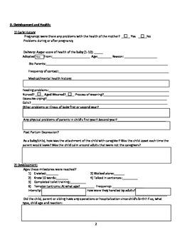 Child Profile- BioPsychoSocial