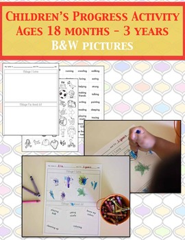 Child Progress Activity Set B&W (Priscilla Beth @ Daycare Support)