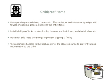 Child Safety Power Point, Notes Sheet, Student Assignments