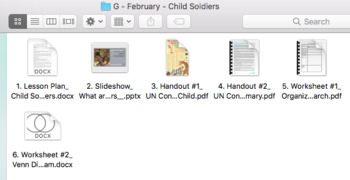 Child Soldiers - February