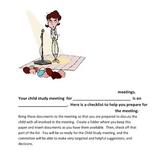 Child Study Meeting Documents Checklist