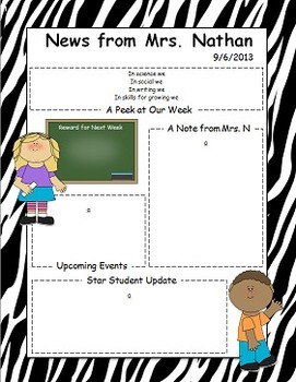 Child Themed Newsletter