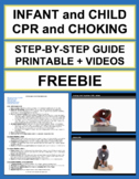 Child and Infant CPR and Choking: Free First Aid Printable and Videos