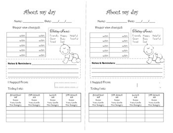 Child care daily report