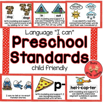Preschool Language and Literacy Standards (child friendly)