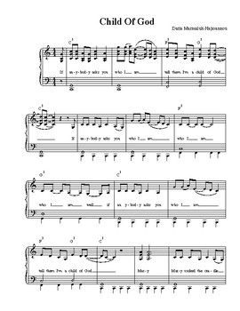 Child of God - Sheet Music