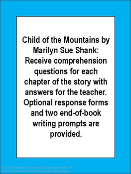 Child of the Mountains Novel Study