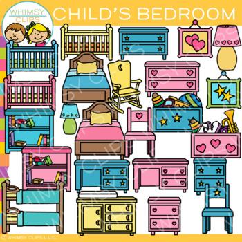 Child's Bedroom Clip Art